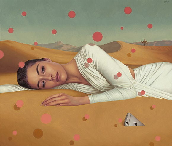 "por Alex Gross - ""Desert"", 2016."