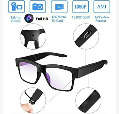Senluo Spy Cam Eyeglasses - Video Camera Glasses