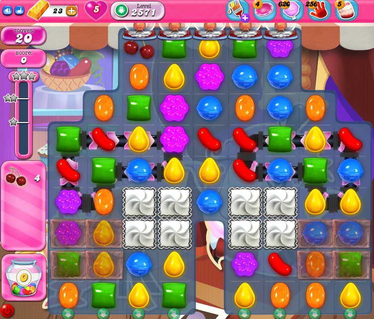 Candy Crush Saga level 2571
