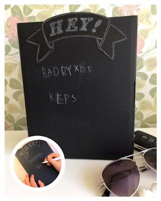 Silhouette Chalkboard Starter Kit - kom ihåg-lista