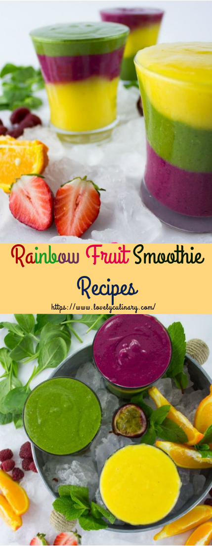 Rainbow Fruit Smoothie Recipes #smoothierecipe #freshjuice