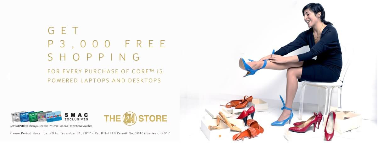 Get PhP3,000 Free Shopping for Every Purchase of Core i5 Powered Laptops and Desktops
