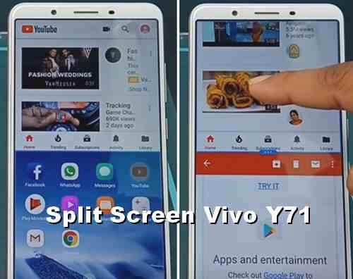 Cara Jalankan 2 aplikasi di HP VIVO Y71 dalam satu layar