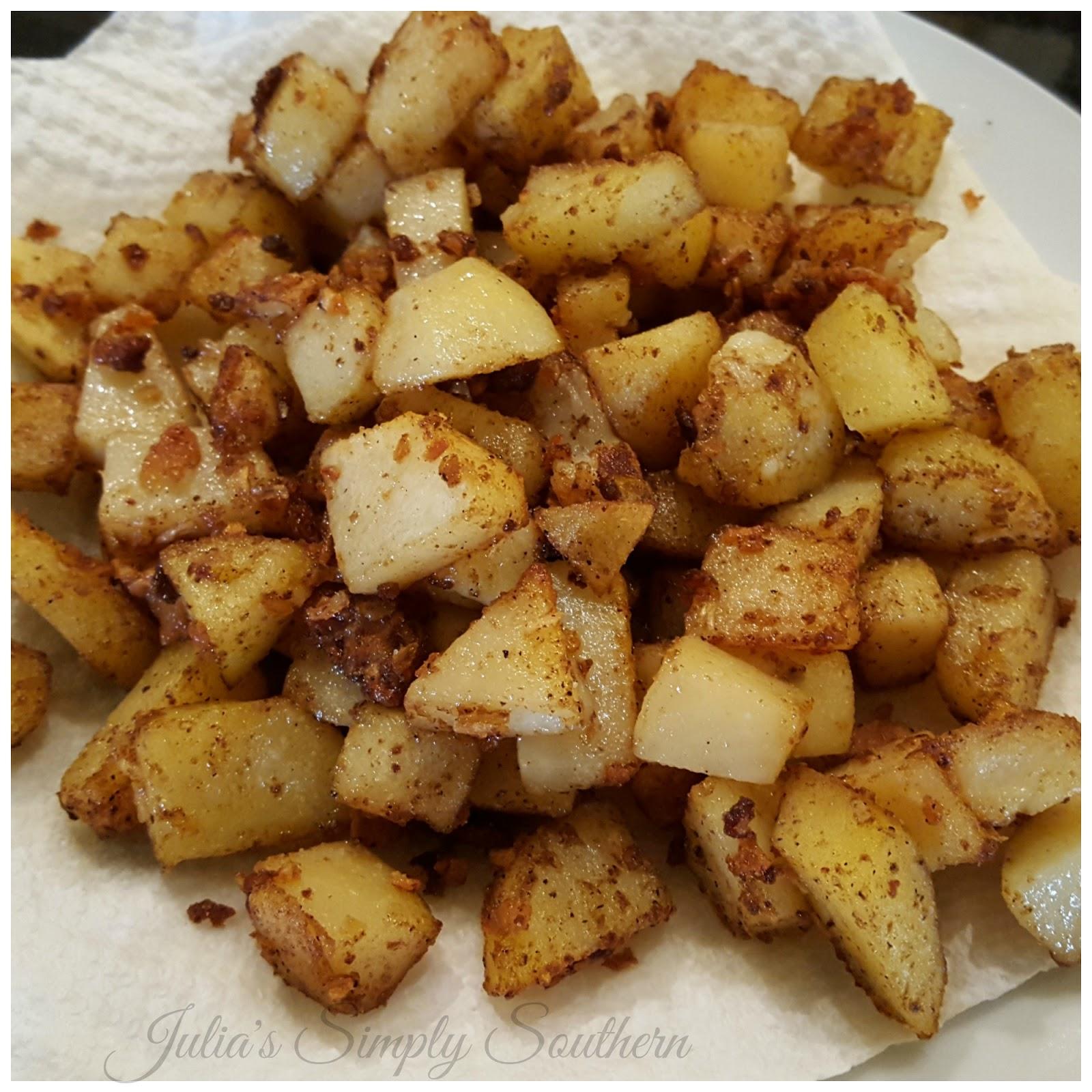 Pan Fried Potatoes Julias Simply Southern