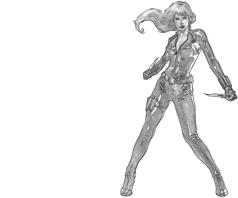 Black widow weapon lowland seed for Black widow coloring page