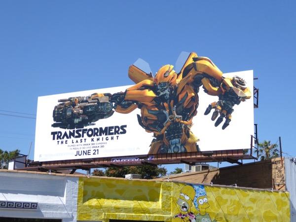 Bumblebee Transformers Last Knight cutout billboard