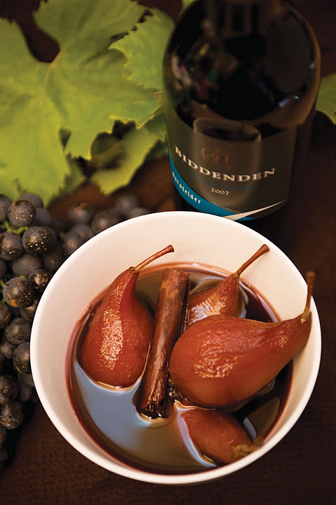 Poached Pears in Biddenden Red Wine: Christmas Treats