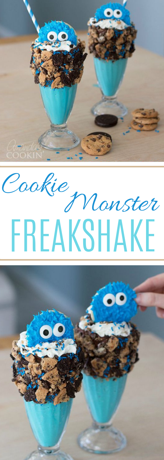 Cookie Monster Freakshakes #milkshake #drinks