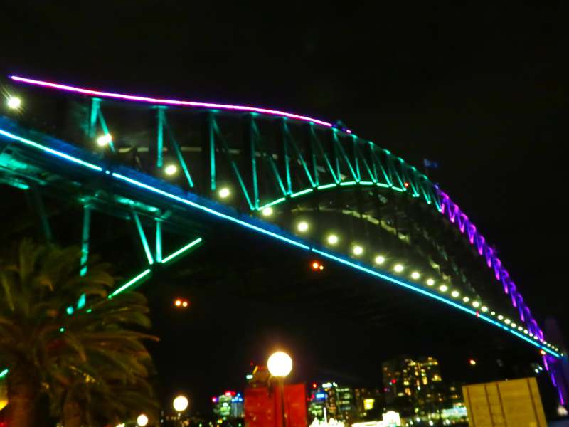 Vivid Sydney The Harbour Bridge