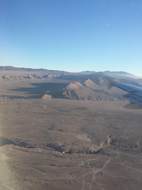 vista avião calama deserto atacama