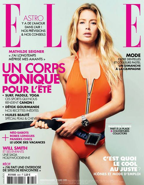 doutzen kroes wears swim looks for elle france june 2015. Black Bedroom Furniture Sets. Home Design Ideas