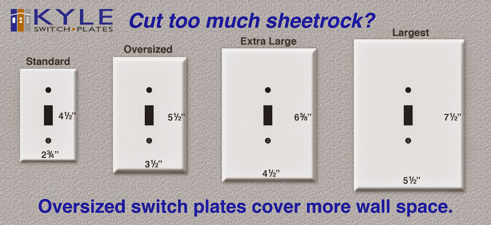 You've never - and I mean NEVER - seen a switch plate THIS BIG before!