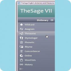 تحميل قاموس TheSage English Dictionary and Thesaurus Professional 7.18 مجانا إنجليزي شامل والمكنز