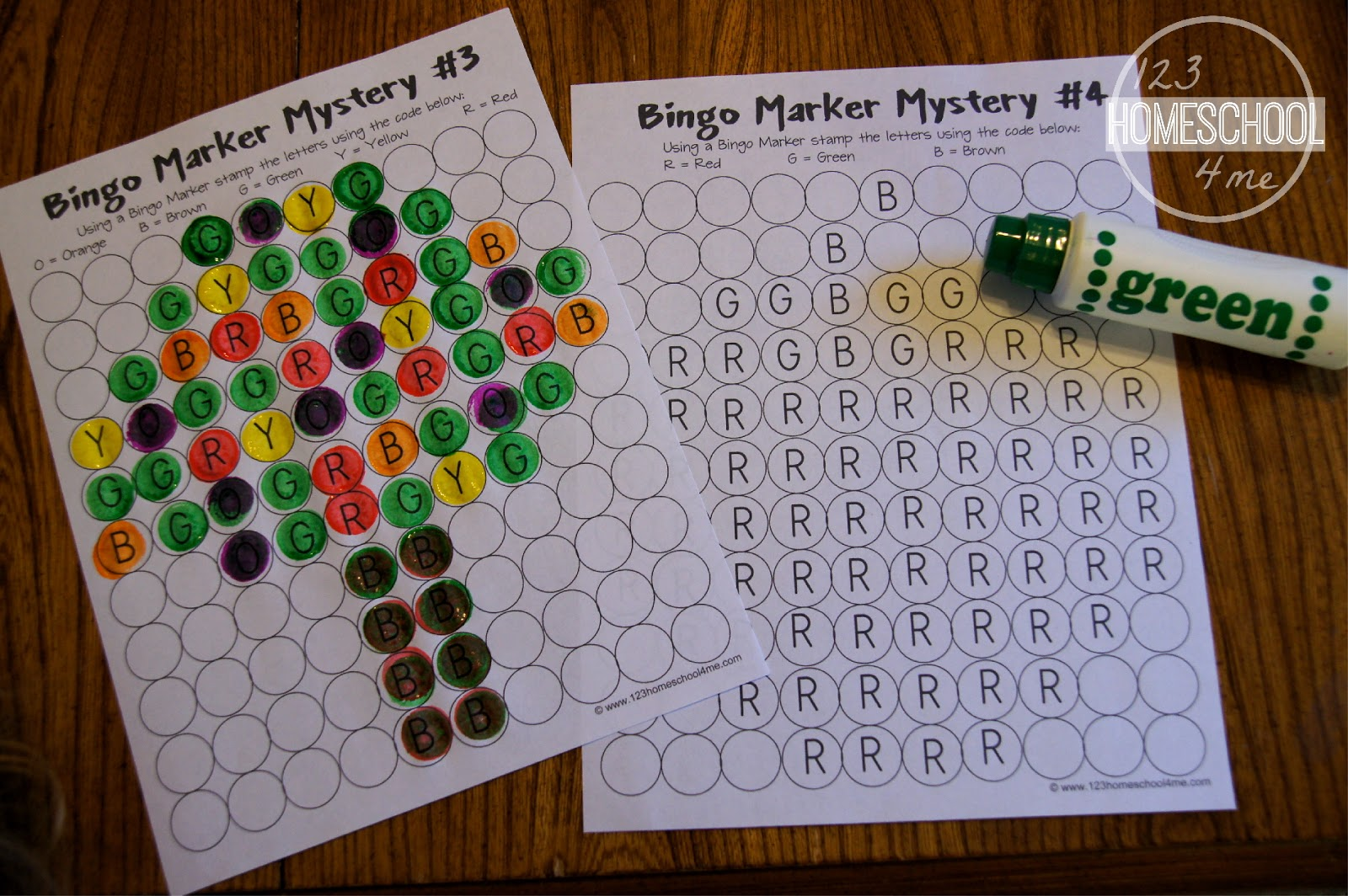 Bingo Marker Mystery Pictures Letter Edition