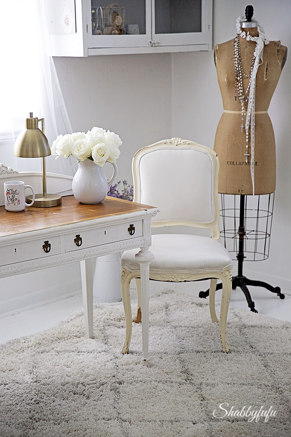 White French Home Office