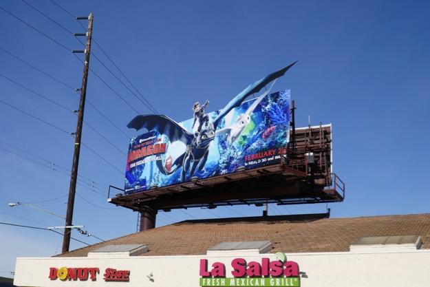 How Train Your Dragon Hidden World billboard