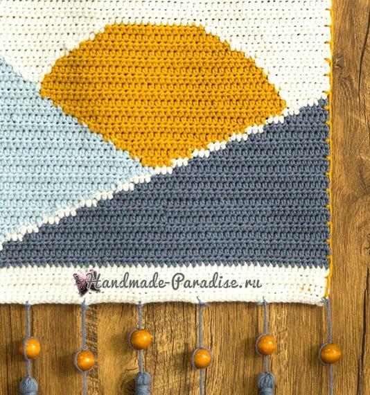 Схемы вязания крючком панно с пейзажем (3)