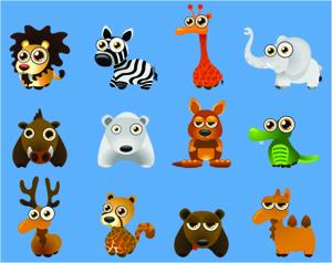 gambar kartun binatang