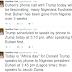 Update! Donald Trump, to speak with President Buhari today