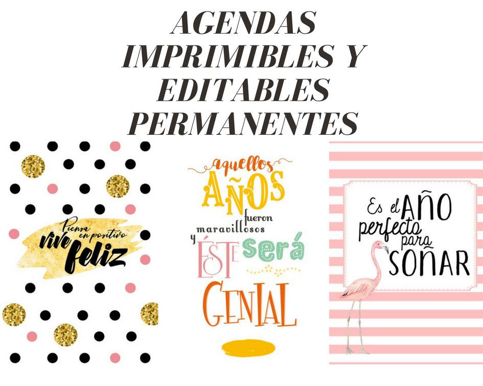 MY LIFE: AGENDAS 2018-2019 PERMANENTES, PARA IMPRIMIR Y EDITAR