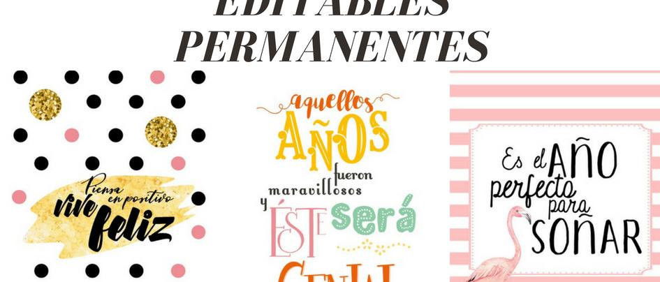 AGENDAS 2018-2019 PERMANENTES, PARA IMPRIMIR Y EDITAR