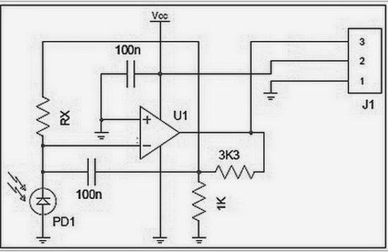Circuit Schematic Module Sensor GUVA-S12SD UV for
