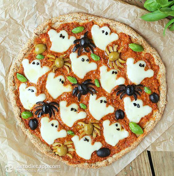 receta-pizza-fantasmas-arañas-halloween