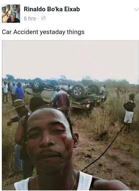 Dafuq? Injured victim takes selfie on accident scene