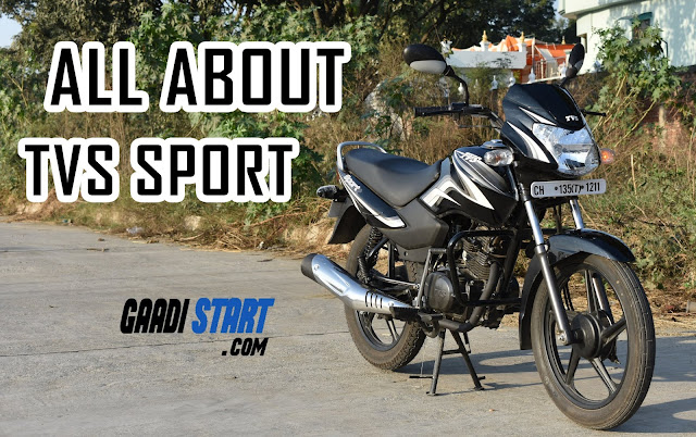 All About  TVS SPORT (Electric start Alloy) - Full Specification and pictures
