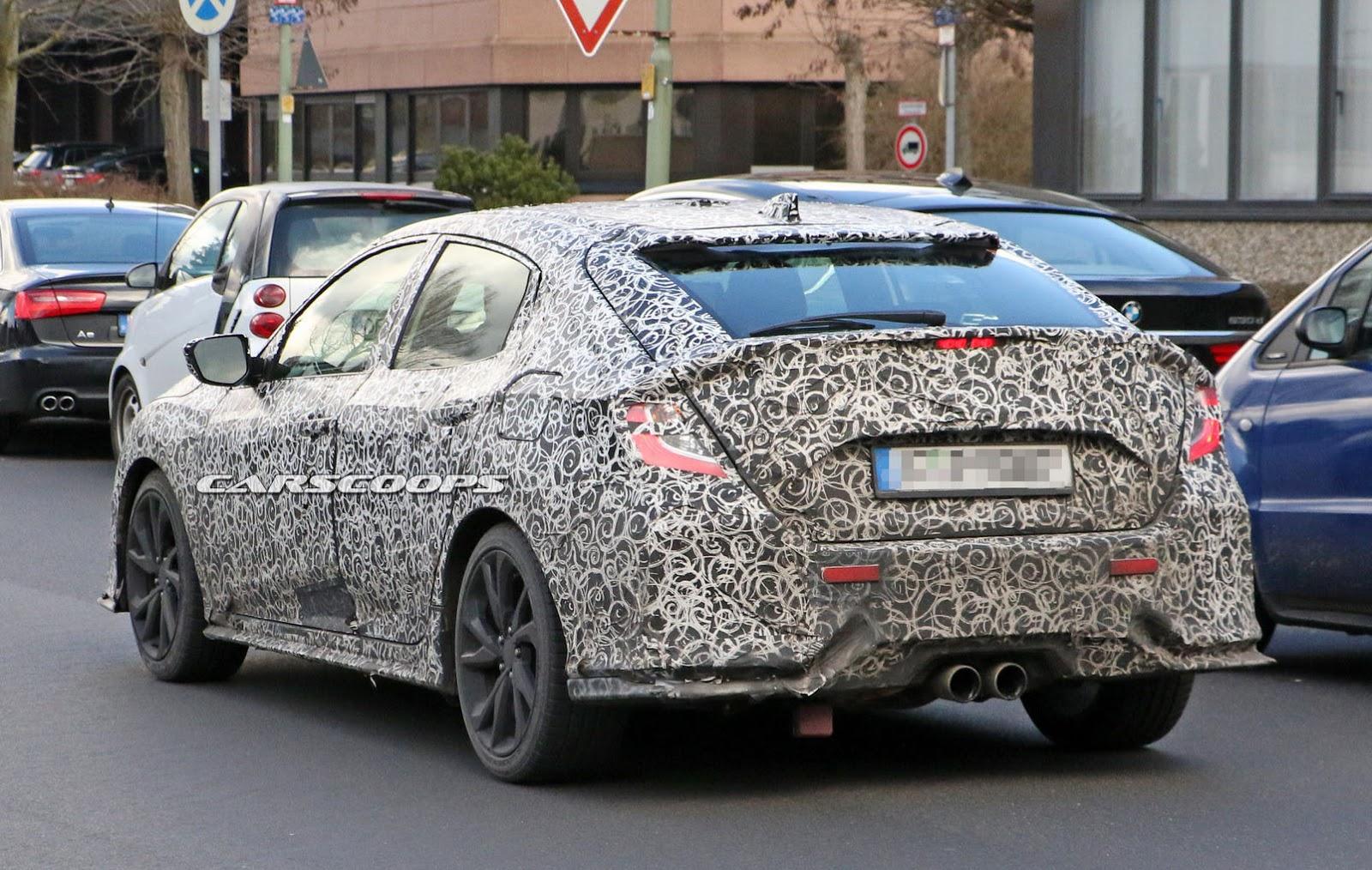 Lộ ảnh Honda Civic Hatchback 2017 trên đường thử