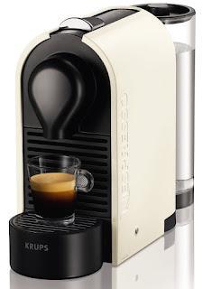 Nespresso U XN2501 Macchina per caffè espresso di Krups, colore Bianco (Pure Cream)