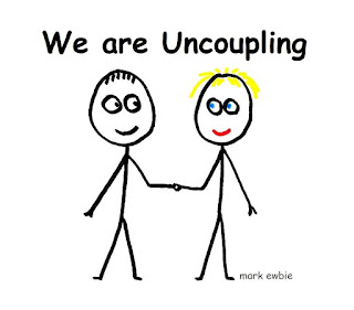 Consciously Un-Coupling Cartoon Drawing by mark ewbie