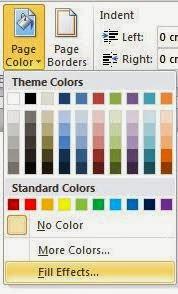 Cara Memberi Warna Pada Halaman Microsoft Word