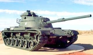 M60 com a torre inicialmente instalada