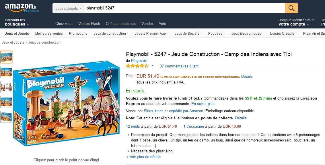 ventes privees sur internet playmobil vente priv e. Black Bedroom Furniture Sets. Home Design Ideas