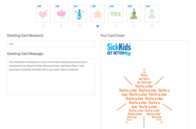 SickKids Get Better Gifts for the Holidays - Wish List Gift - eCard