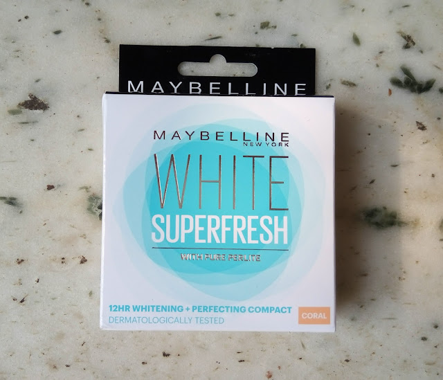 Maybelline White Super Fresh Compact in Coral : Review, Swatch