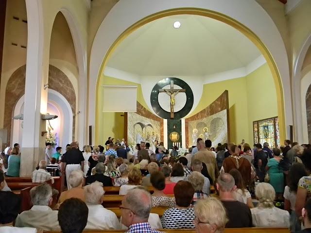 uroczysta Msza św. country w kościele św. Józefa w Wolsztynie