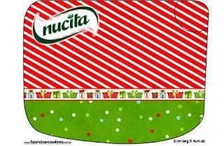 Etiqueta Nucita de Navidad a Rayas para imprimir gratis.