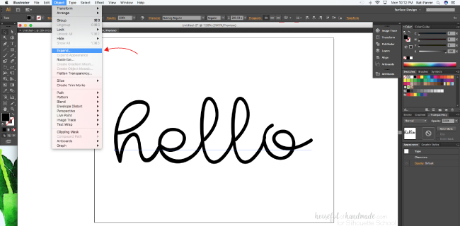Saving Adobe Illustrator Files for Silhouette Studio (SVG and DXF