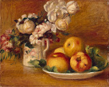 Apples and Flowers by Pierre-Auguste Renoir - Fruits Paintings from Hermitage Museum