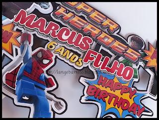 Topo para bolo tema Super heróis