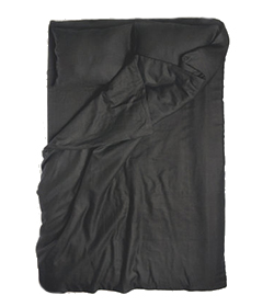 Black linen king duvet cover and pillowcases (Lovely Home Idea, $275)