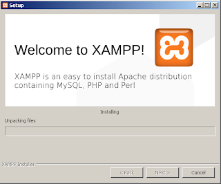 Wait until the installation process of XAMPP is complete