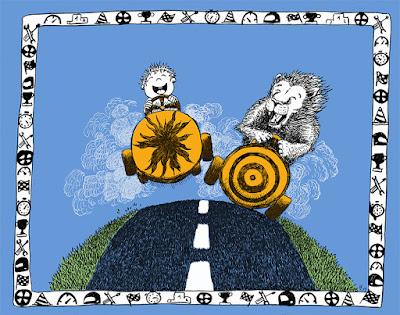 carte de voeux personnalisée customed card boy lion illustration jeunesse