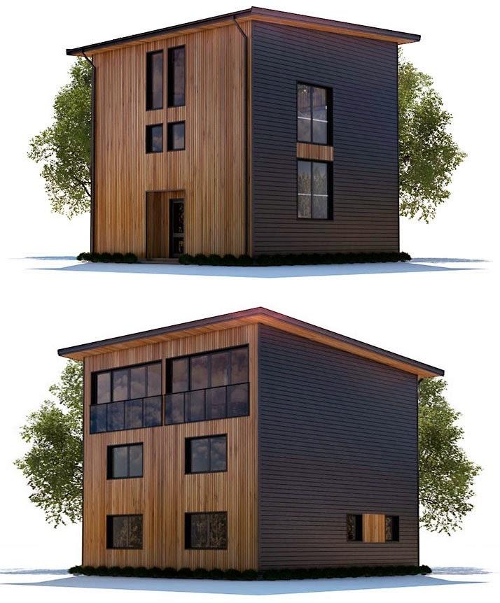 Planos de casa 3 pisos moderna peque a planos de casas for Planos de casas minimalistas pequenas