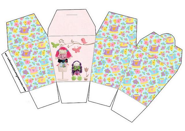 Cloth Dolls Free Printable Chinese Take Away Box.