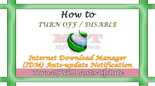 Learn howto Turn Off or Disable IDM Auto Update Notification