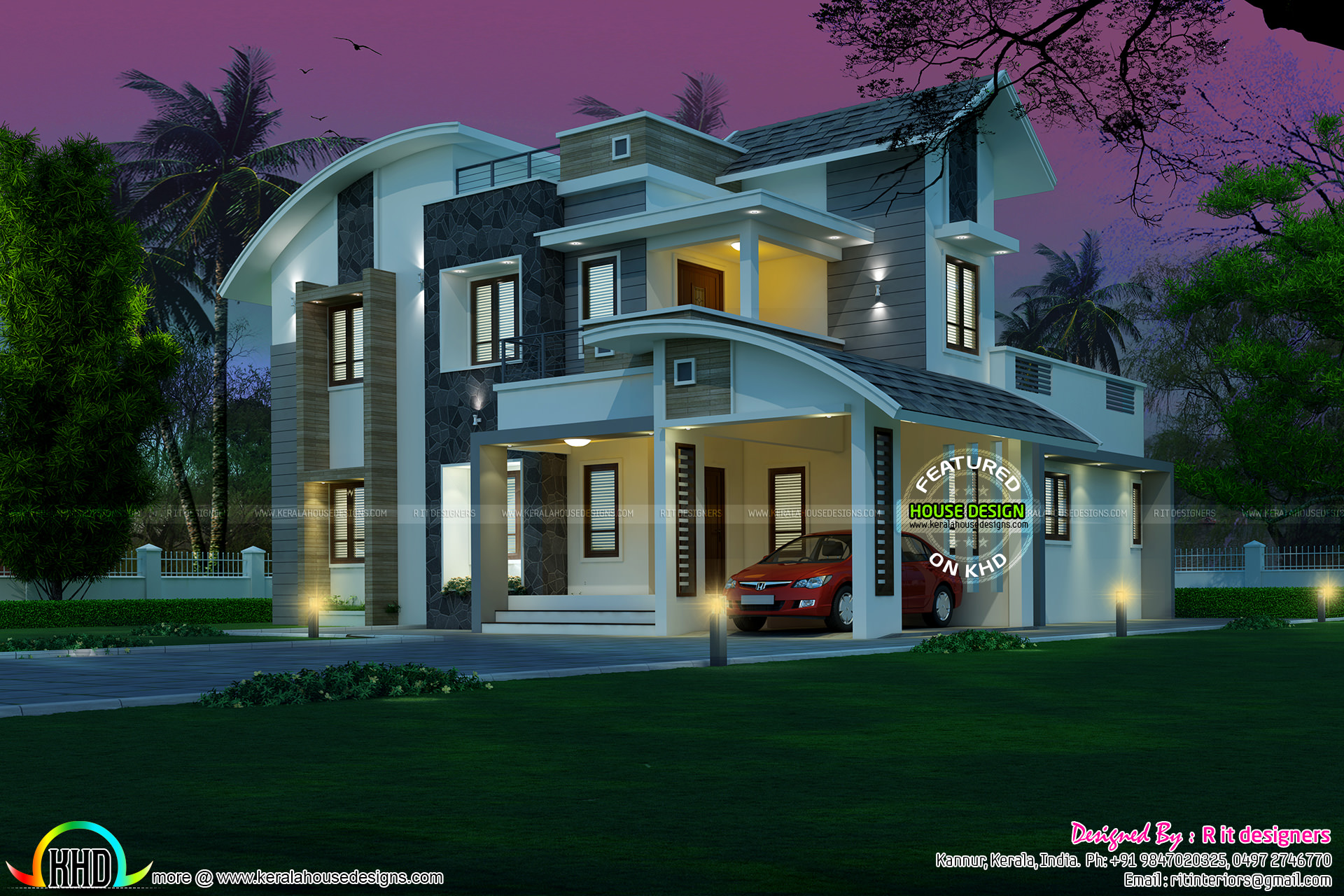 3 bedroom 2250 sq-ft house 48 lakh cost - Kerala home ...