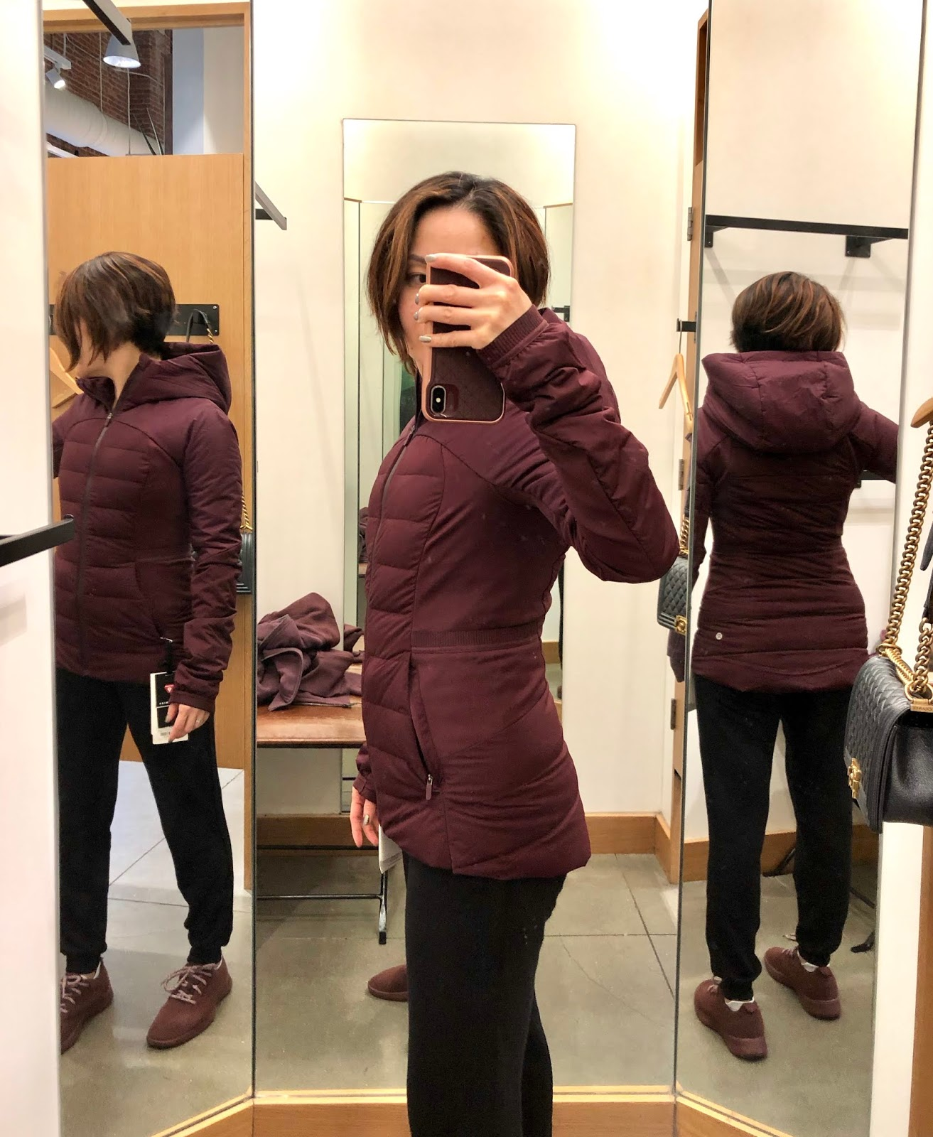 Petite Impact: Store Fit Review! Down For It All Jacket in